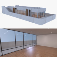 modern pier bar interior 3d obj