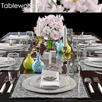 tableware 1 table 3d max