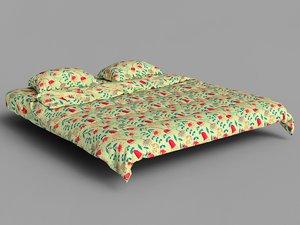 realistic bed 3d model