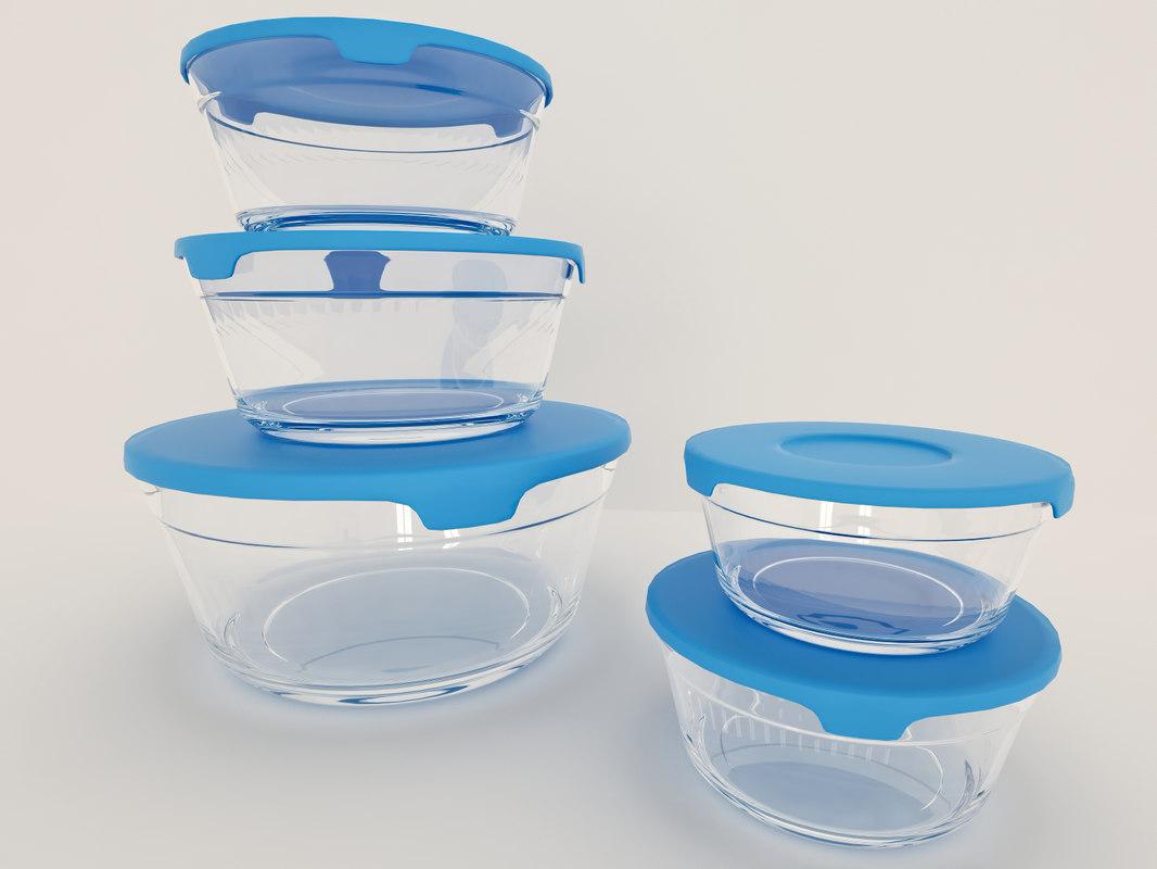 3d set food storage