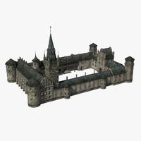 3d model gothic castle
