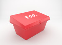 3d model fire-fighting sand box