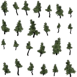 3d pine trees model