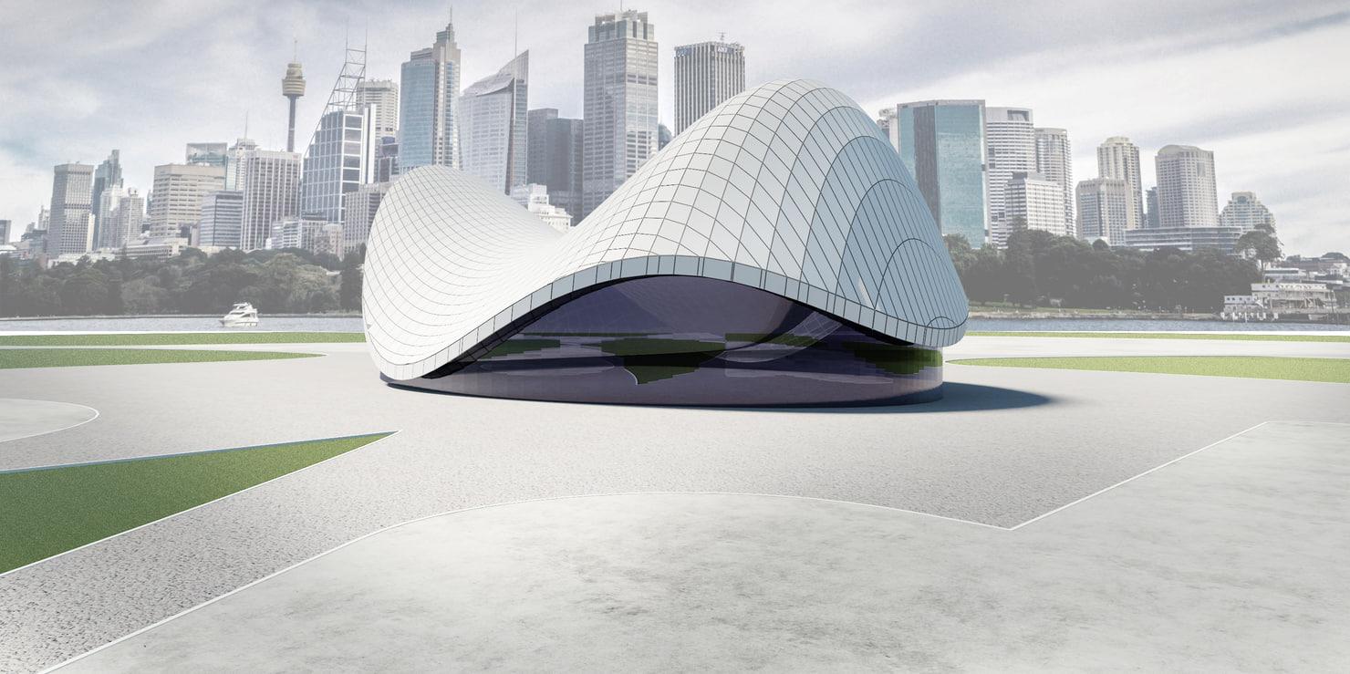 building modern 3d max
