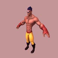 fighter fantasy 3d obj