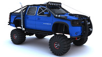 3d model of avalance suv tuning