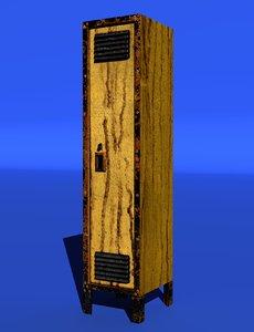 3d locker rusty