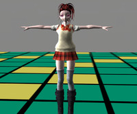 anime rigged character 3d model