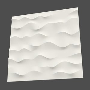 wall panel waves 3d max