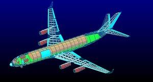 3d ilyushin il-96-300 rev cargo