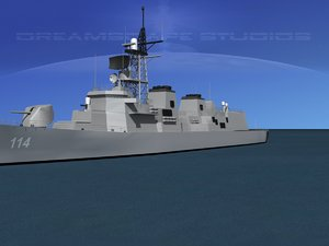 takanami destroyer makinami dd-114 3d model
