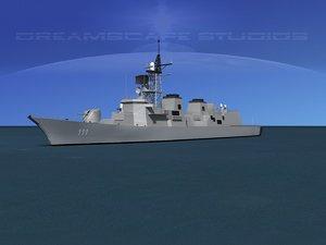3d takanami destroyer dd-111 onami