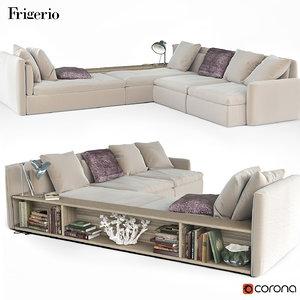 3d sofa frigerio dominio