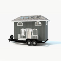 3d model tiny house trailer
