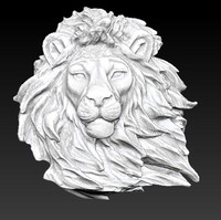 lion head 3d obj