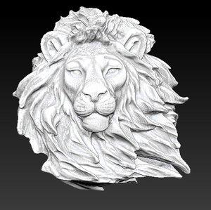 lion head 3d obj