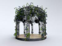 3d model gazebo garden steel