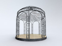 Steel Garden Gazebo With Greenery