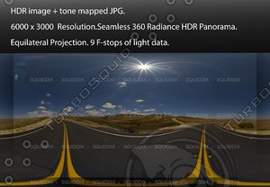 """EMPTY ASPHALT ROAD THROUGH ROLLING STRAW COVERED HILLS, 360 PANORAMA """"538"""