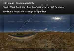 """NEAR AN EMPTY ASPHALT ROAD THROUGH ROLLING STRAW COVERED HILLS, 360 PANORAMA """"539"""