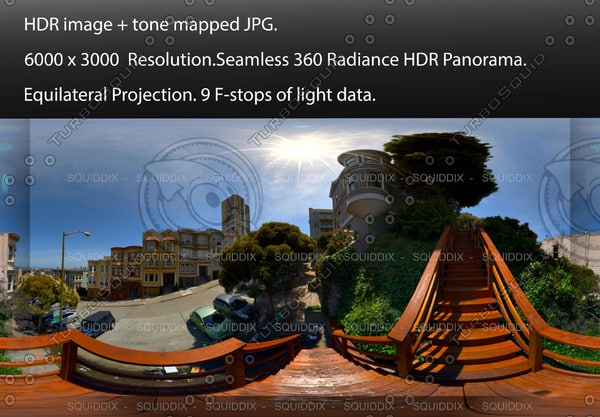 """ON THE MACONDRAY STEPS IN SAN FRANCISCO # 1, 360 PANORAMA """"554"""