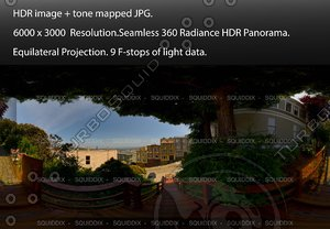 """ON THE MACONDRAY STEPS IN SAN FRANCISCO # 2, 360 PANORAMA """"555"""