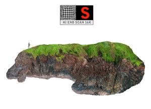 3d model lava cliffs 16k
