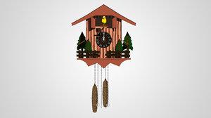 ma cartoon cuckoo clock rigged bird