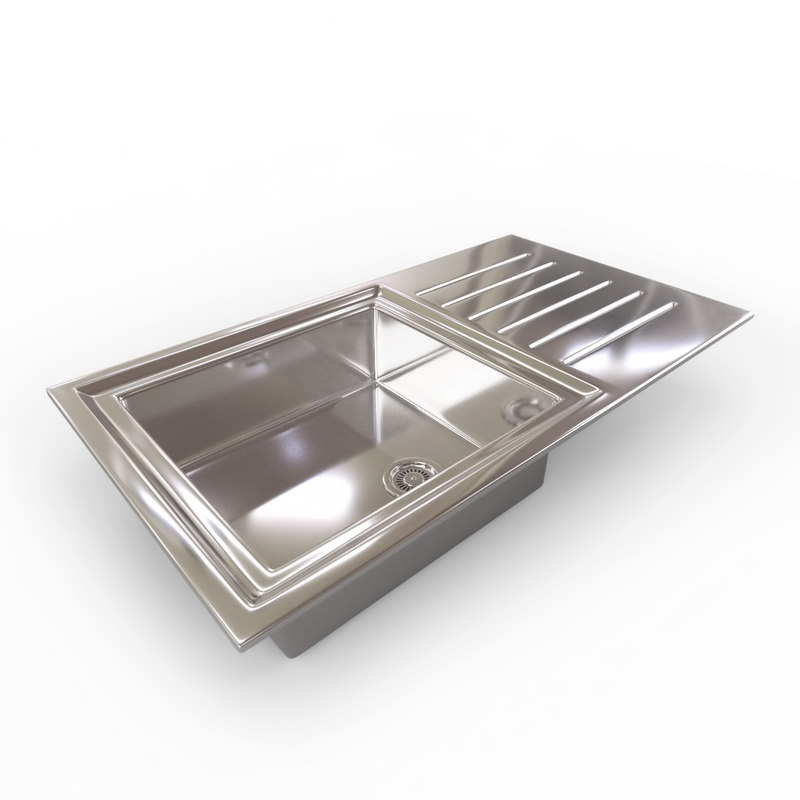 kitchen sink - bowl 3d 3ds