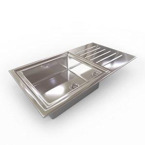 kitchen sink - bowl 3d 3ds