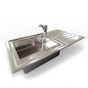 kitchen sink mixer tap 3d 3ds