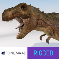 Tyrannosaurus Rex model rigged
