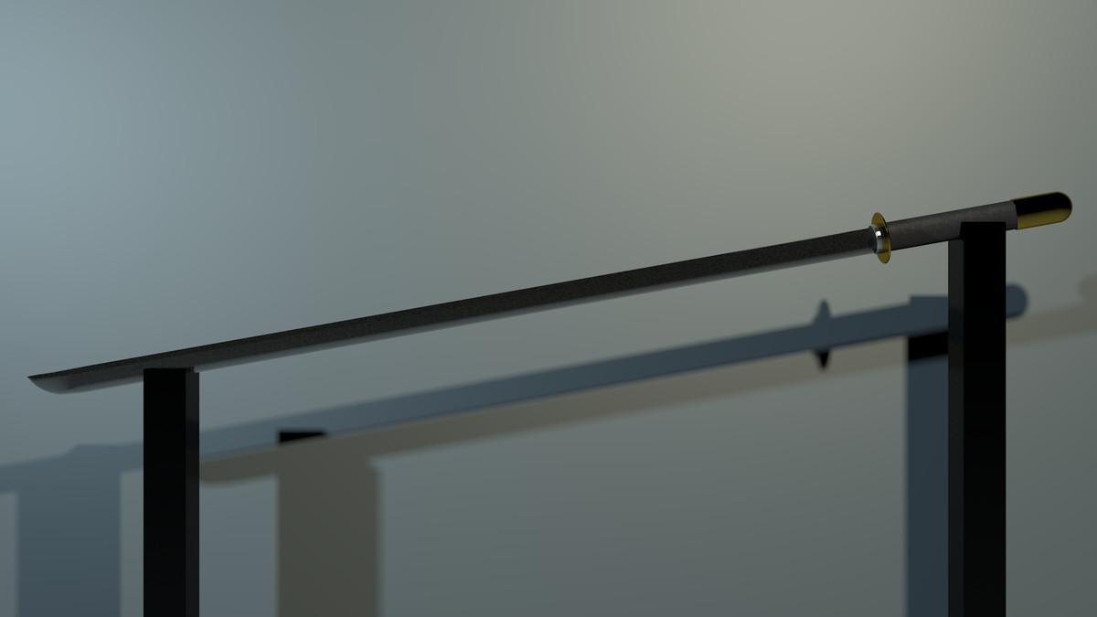 3d chokuto sword