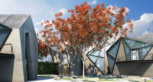 3d model tree flowers