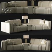 sofa rugiano cadillac 3d max