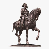 statue napoleon ue includes 3d model