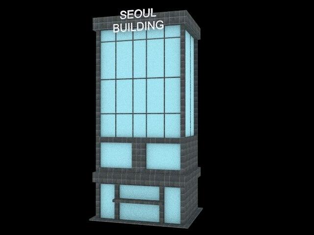 3d model building city cartoon