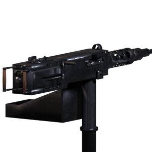 3d model m2hb 50cal