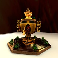 3d chinese bronze teapot model