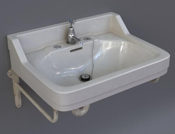 3d vintage sink