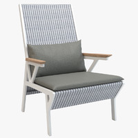 3d model kettal vieques club armchair