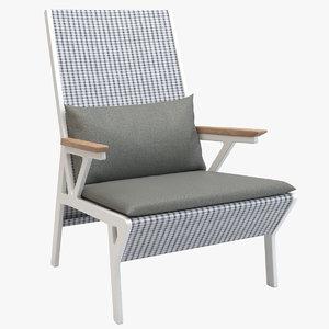 3d model kettal vieques club armchair
