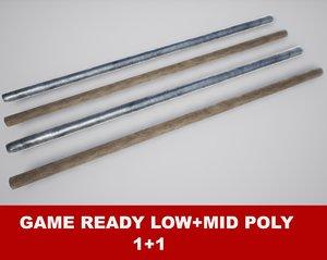 fighting arnis sticks pbr 3d x
