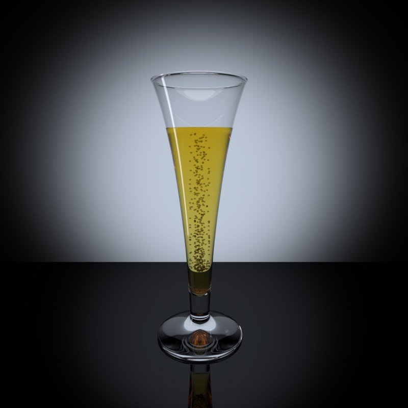 3d model champagne glass