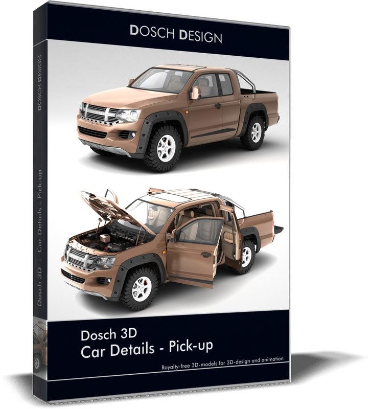 3d car details - pick-up
