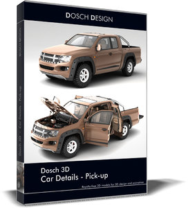 3d car details - pick-up