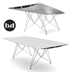 b steel table x
