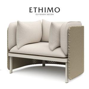 3d max upholstered garden esedra ethimo