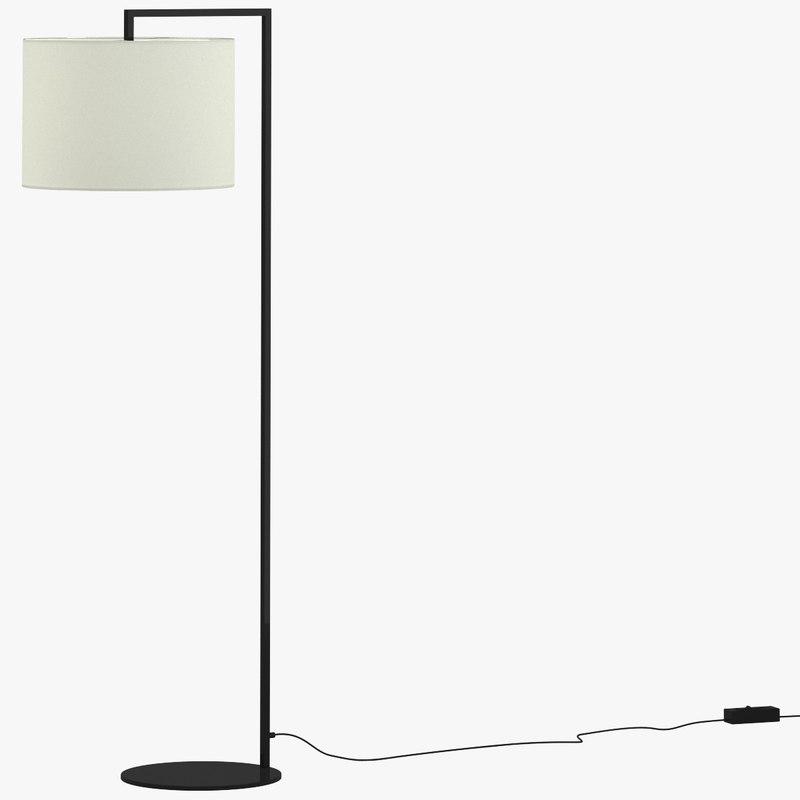 3d model read noon floor lamp