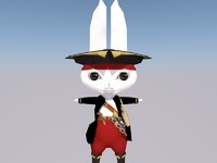 pirate rabbit 3d c4d